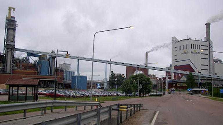 Fabriken vid Gruvöns bruk. Foto: SR.