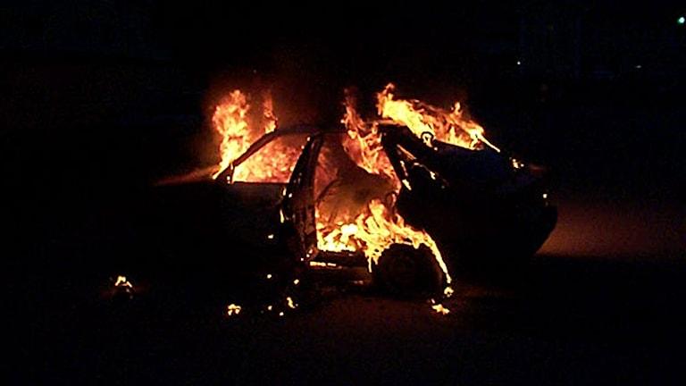 Så här såg det ut när Räddningstjänsten anlände. Foto: Räddningstjänsten Torby