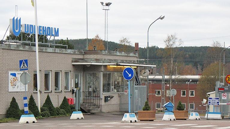 Entrén vid Uddeholm Tooling i Hagfors. Foto: Lennart Nordenstein/Sveriges Radio.