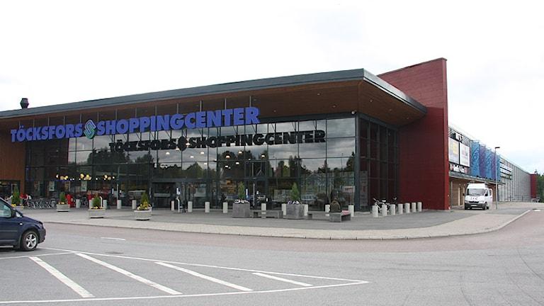 Töcksfors shoppingcenter. Foto: Örjan Bengtzing/Sveriges Radio.