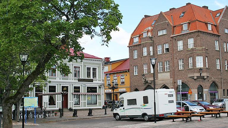 Fastigheter i Filipstad. Foto: Jenni Jansson/Sveriges Radio.