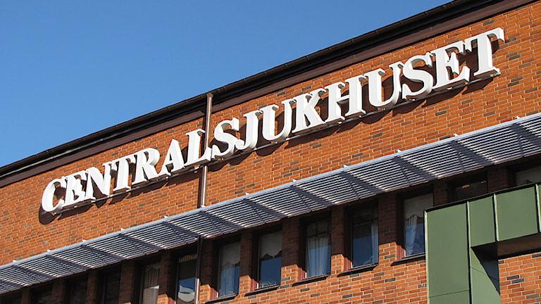 Centralsjukhuset. Foto: Lars-Gunnar Olsson/Sveriges Radio.