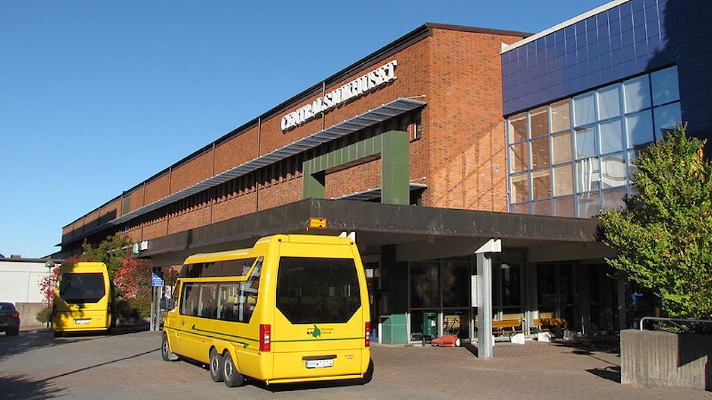 Centralsjukhusets entré. Foto: Lars-Gunnar Olsson/Sveriges Radio.