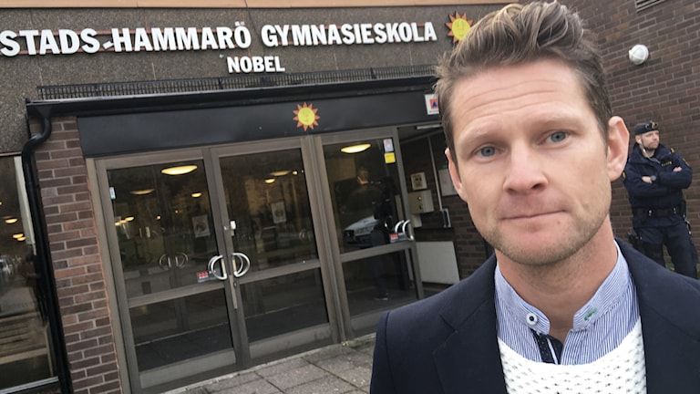 Henrik Bodin, biträdande rektor på Nobelgymnasiet. Foto: Per Larsson/Sveriges Radio.