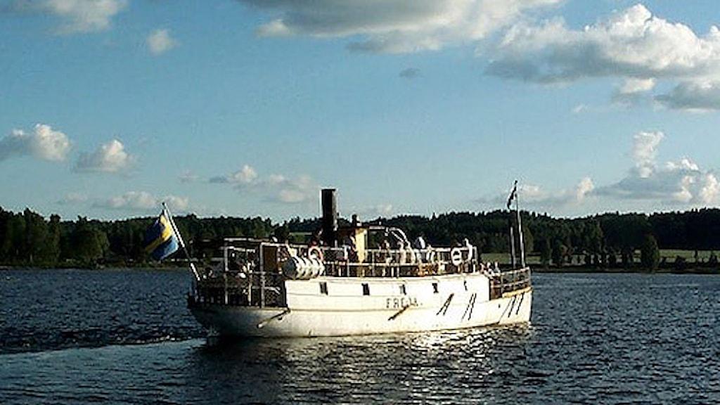 Ångbåten Freja. Foto: Kils kommun.