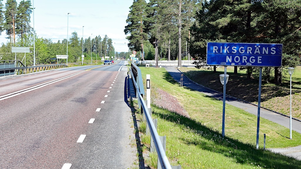 Skylt Riksgränsen Norge vid Morokulien. Foto: Örjan Bengtzing/Sveriges Radio