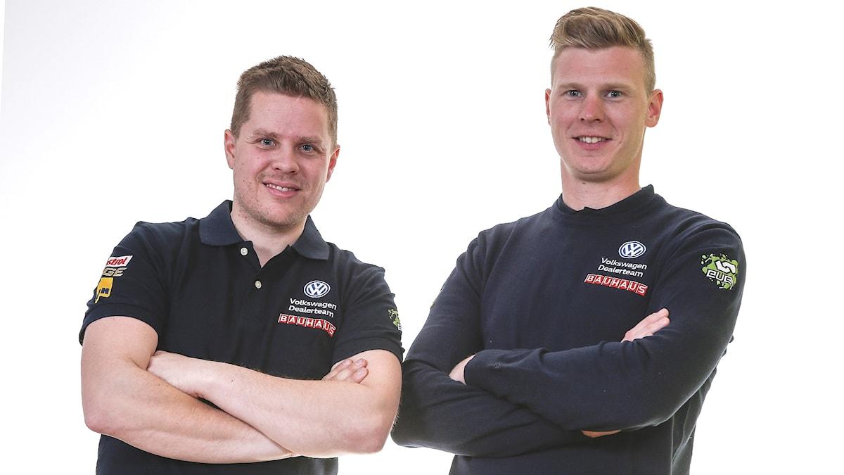 Kartläsaren Stig Rune Skjaermoen och föraren Johan Kristoffersson. Foto: Pressbild.