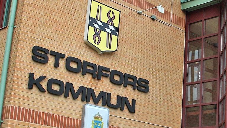 Kommunhuset i Storfors. Foto: Lars-Gunnar Olsson/Sveriges Radio.