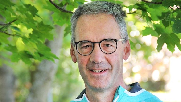 Tom Hollowell, generalsekreterare på International Orienteering Federation.. Foto: Isak Olsson/Sveriges Radio