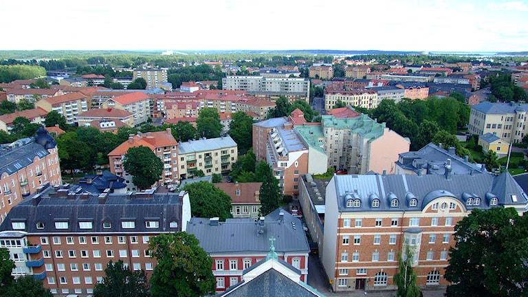 Vy över Karlstad centrum. Foto: Lars-Gunnar Olsson/Sveriges Radio.