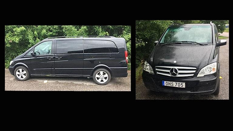 Polisen har hittat den bil som användes vid rånet i Kristinehamn. Nu söker de vittnen. Foto: Polisen