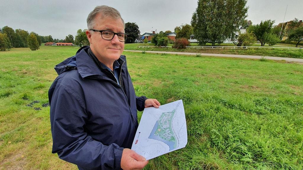 Håkan Laack, vd för det kommunala bostadsbolaget Torsby Bostäder. Foto: Aron Eriksson/Sveriges Radio.