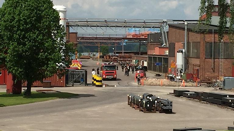 Gaslarm på Uddeholm