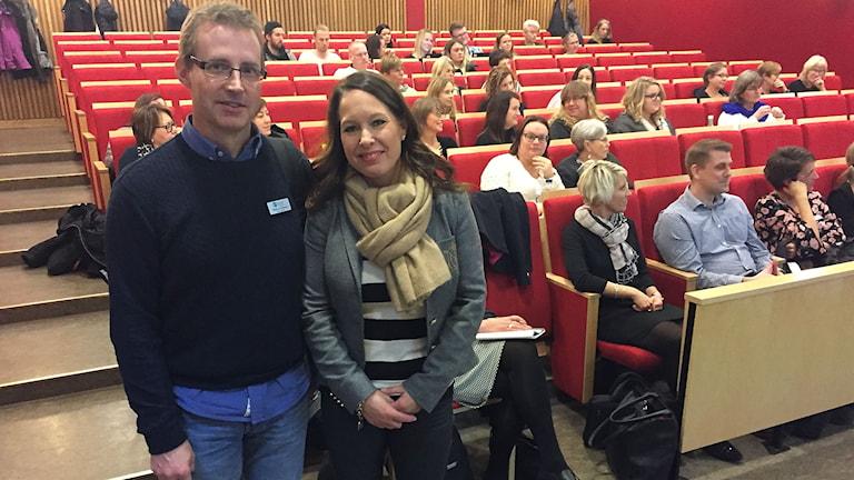 Anna Falk, verksamhetsansvarig lärande och stöd, och matte/NO-läraren Magnus Norberg.