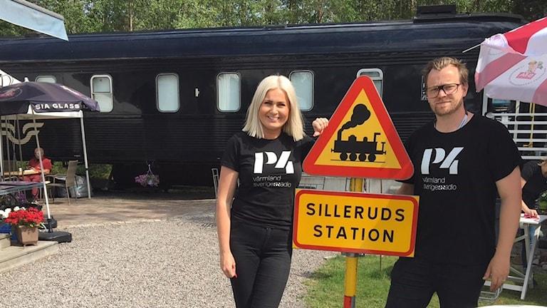 Sara och Jonas på Sommarluff i Sillerud. Foto: Christian Severin/Sveriges Radio