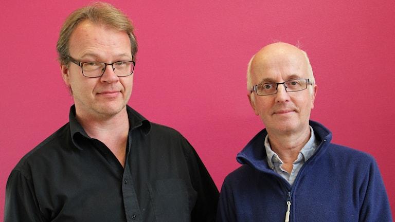 Torbjörn Nilsson, Svenska Rovdjursföreningen, och Gunnar Glöersen, Svenska Jägareförbundet. Foto: Lars-Gunnar Olsson/Sveriges Radio.