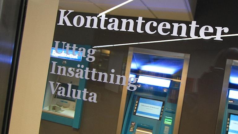 Ett kontantcenter. Foto: Pressbild