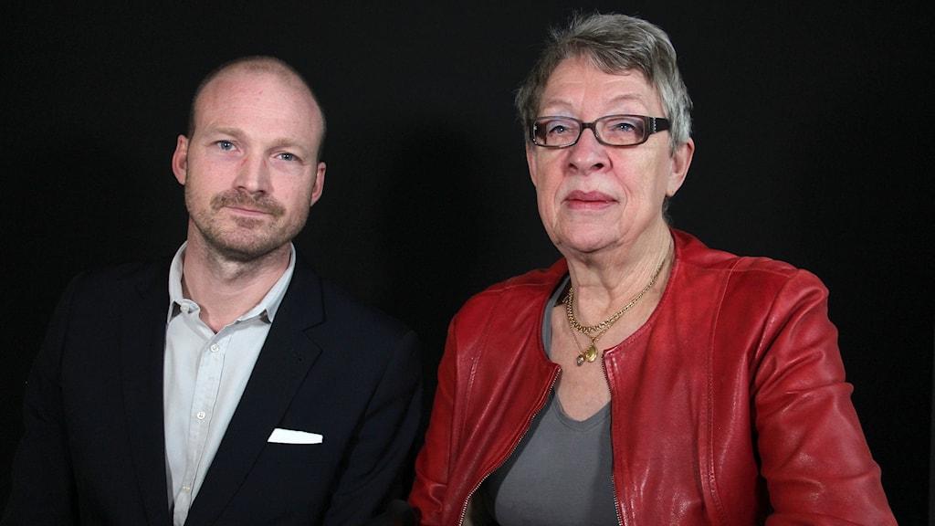 Jonas Jacobsson och Ann-Marie Johansson. Foto: Lars-Gunnar Olsson/Sveriges Radio.