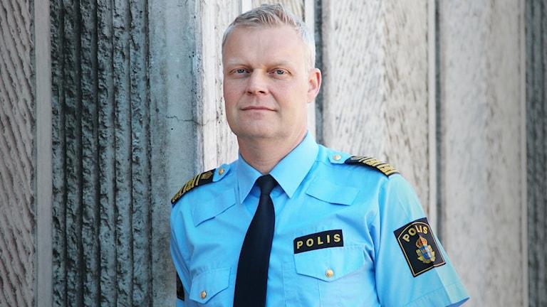 Lars Wirén, polisområdeschef i Värmland. Foto: Lars-Gunnar Olsson/Sveriges Radio.