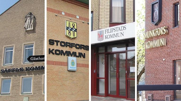 Kommunhusen i Säffle, Storfors, Filipstad och Munkfors. Foto: Sveriges Radio.