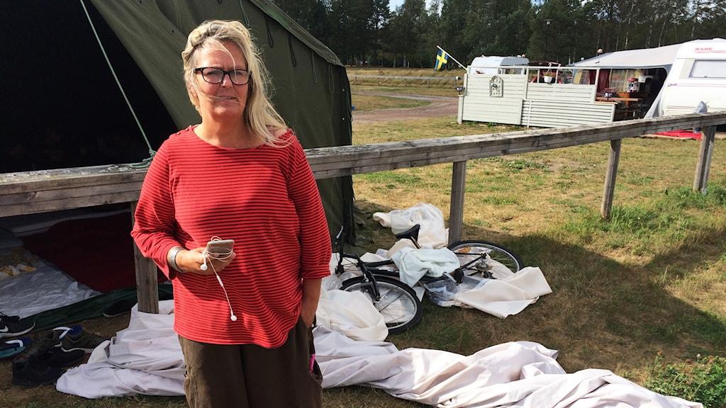 Victoria Sterner, volontär Världen i Värmland. Foto Björn Söderholm/Sveriges Radio