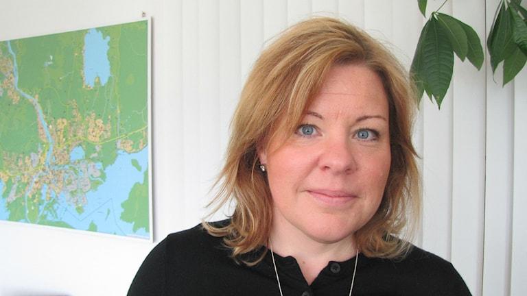 Porträtt av Maria Frisk.