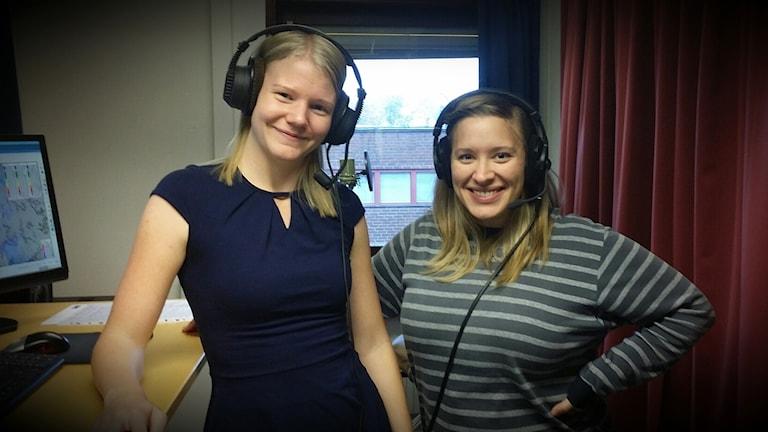 Sandra och Lovisa Andersson, SMHI. Foto: Lisa Frost.