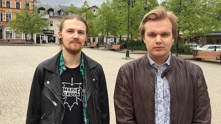 Anthon Waerme och Johan Tinfors. Foto: Robert Ojala/Sveriges Radio.