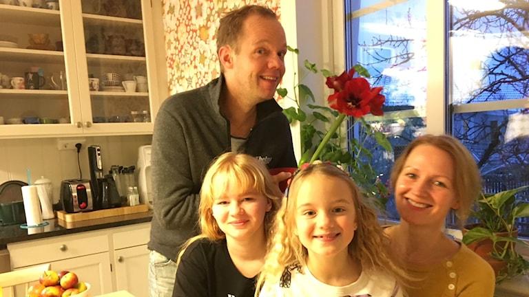 Olof, Doris, Mary och Sofia Wretling.