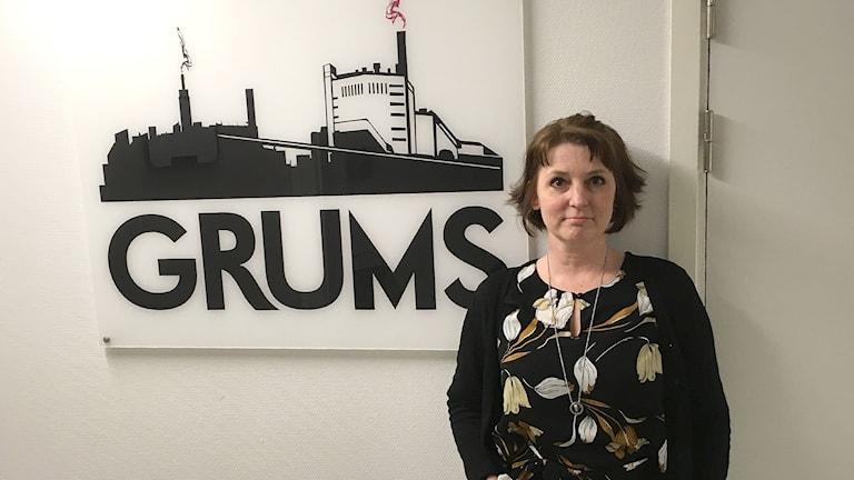 Maria Röhr, näringslivschef i Grums. Foto: Wail Osman/Sveriges Radio.