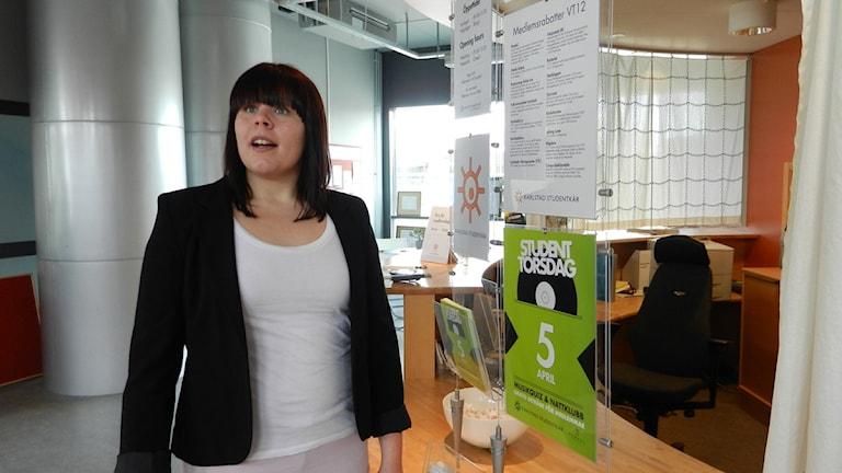 Susanna Göransdotter, ordförande Karlstads studentkår.