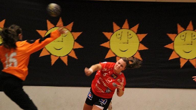 Handbollsspelaren Karin Ullén Hellton. Foto: Anders Jenshammar/SR Värmland