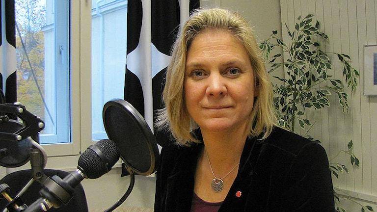 Magdalena Andersson (S) ekonomiskpolitisk talesperson. Foto: Hedvig Nilsson