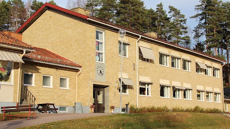 Transtrands friskola. Foto: Lars-Gunnar Olsson/Sveriges Radio.