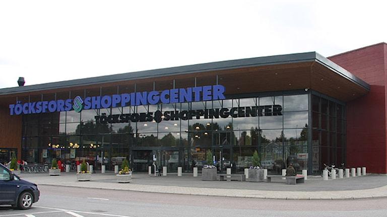 Töcksfors köpcenter. Foto: Sveriges Radio.