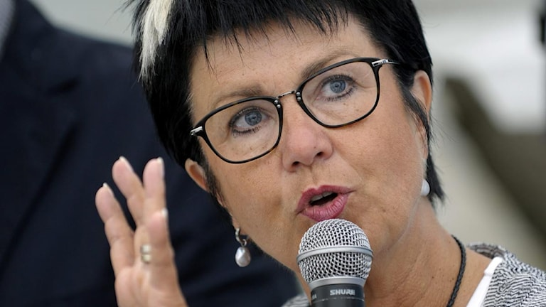 Eva-Lis Sirén, lärarförbundets ordförande. Foto: Janerik Henriksson/Scanpix