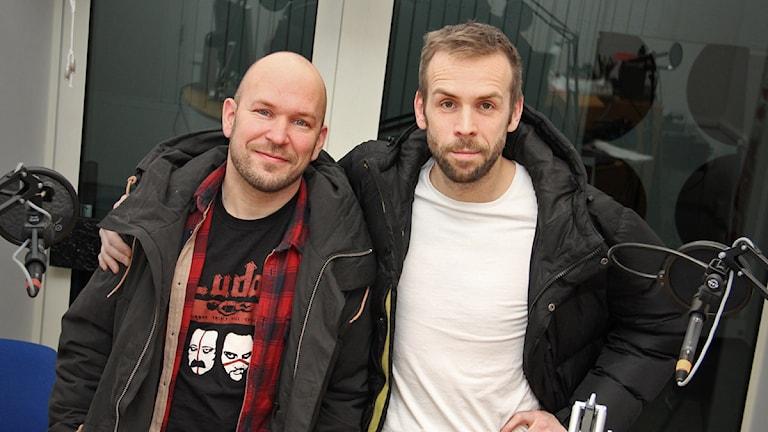Björn Starrin och Johan Östling. Foto: Lars-Gunnar Olsson/Sveriges Radio.