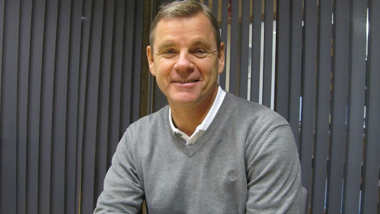 Håkan Loob klubbdirektör i Färjestad/foto: Anders Prammefors/Sveriges Radio
