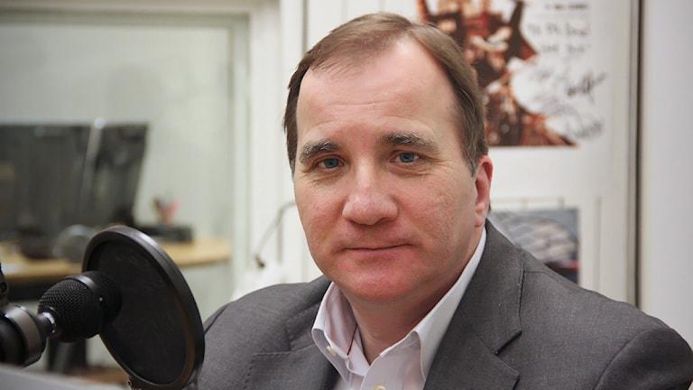 Stefan Löfven (S). Foto: Lars-Gunnar Olsson/Sveriges Radio.