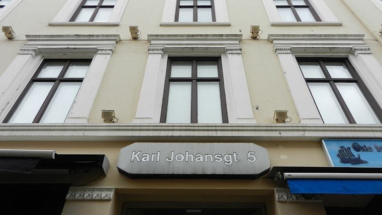 Fastighet på Karl-Johan i Oslo. Foto: Torsten Gabrielsson/Sveriges Radio.