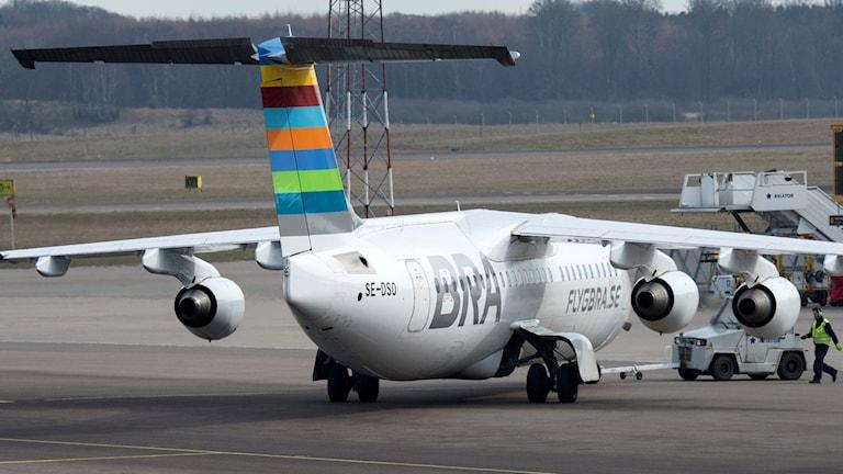 Ett flygplan från BRA. Foto: Johans Nilsson/TT.