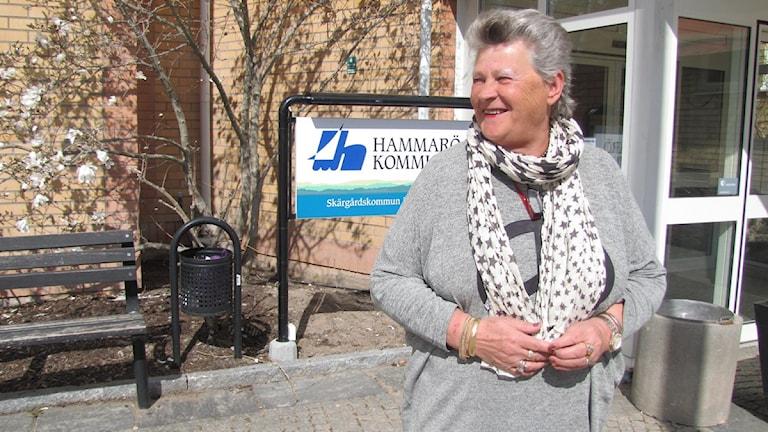 Margareta Ivarsson, (C), vård- och omsorgsnämndens ordförande på Hammarö.