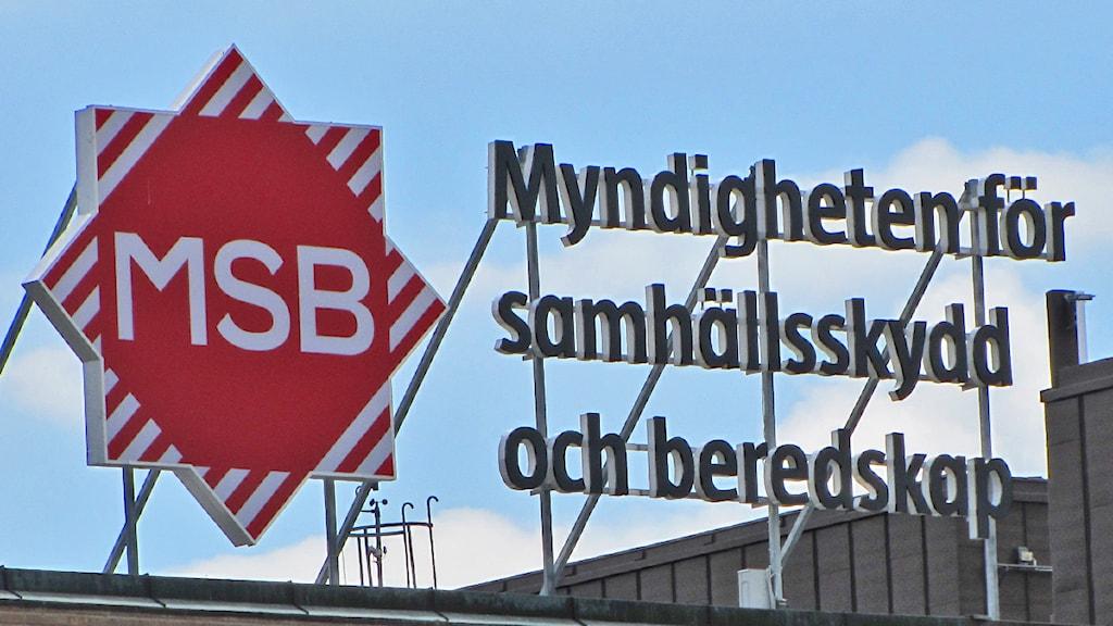 MSB. Foto: Isak Olsson/Sveriges Radio.