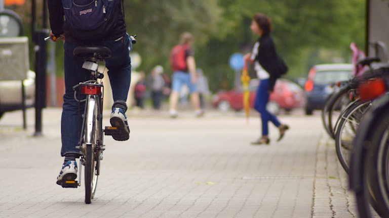 Cyklist. Foto: Isak Olsson/Sveriges Radio.