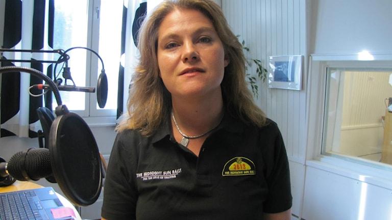 Christina Lundkvist-Wiklund i studion