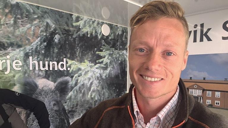 Michael Scepler, vildsvinskännare. Foto: Sara Johansson/Sveriges radio