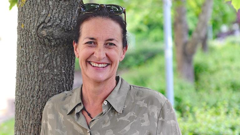 Jenny Harlén, Semesterpratare i P4 Värmland 2019. Foto: Örjan Bengtzing/Sveriges Radio.