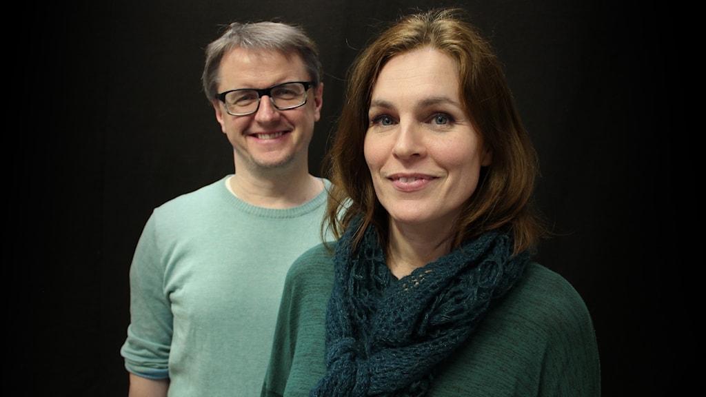 Christer och Cecilie Nerfont. Foto: Lars-Gunnar Olsson/Sveriges Radio.