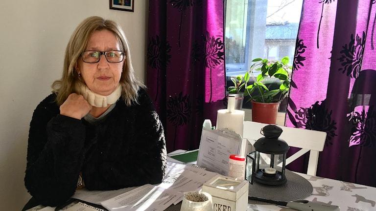 Renée Wåhlén, Karlstad, om avslag på sjukpenning, fattig