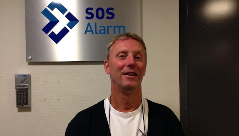 Anders Larsson, platschef på SOS Alarm i Karlstad.